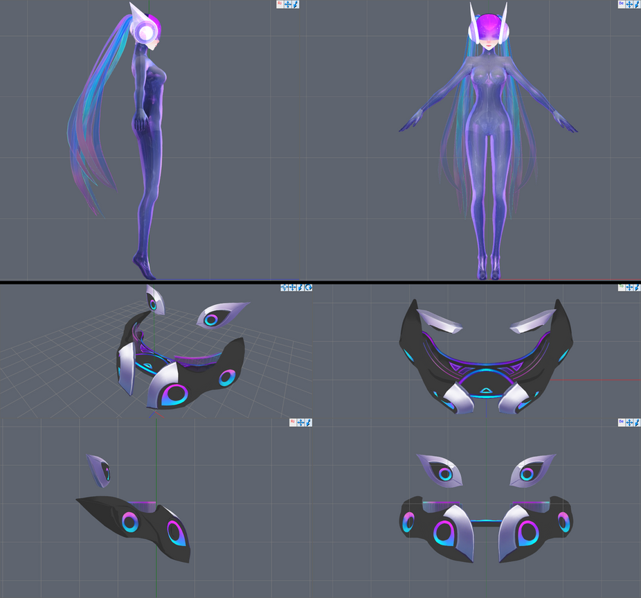 DJ Sona [ETHEREAL form] W.I.P.2 by Hidaomori on DeviantArt