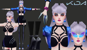 K/DA ALL OUT EVELYNN 3D MODEL [WIP 2]