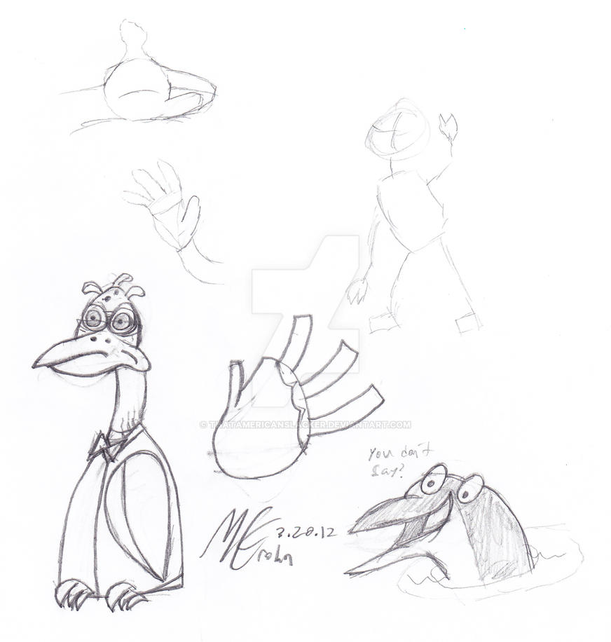 Birdbrain Sketch + Doodles by ThatAmericanSlacker