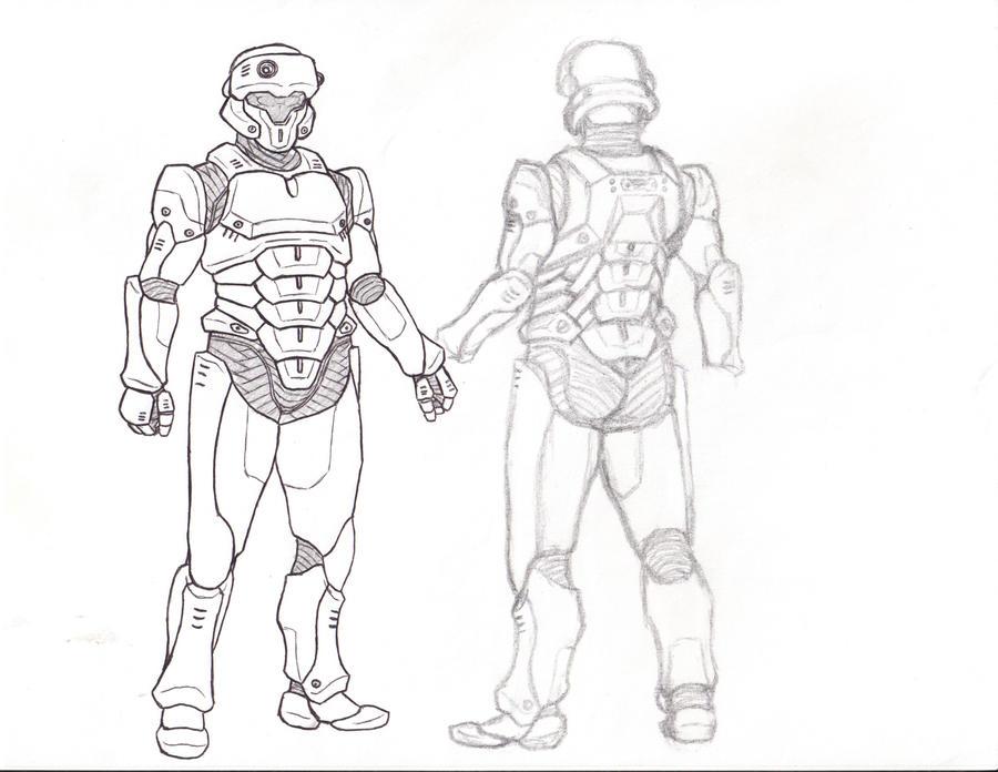 Futuristic Body Armor by suldae