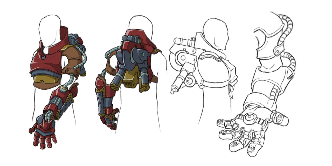 how to draw futuristic weapons