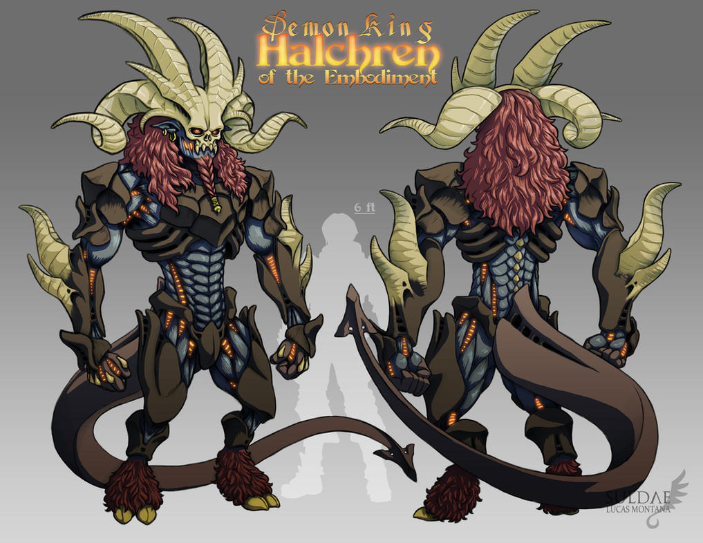 Demon King - Halchren of the Embodiment by suldae