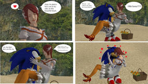 Request - Sonic and Elise in a date part2