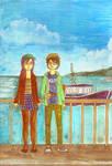 suzuka et tomy a la mer by luxuriantbd