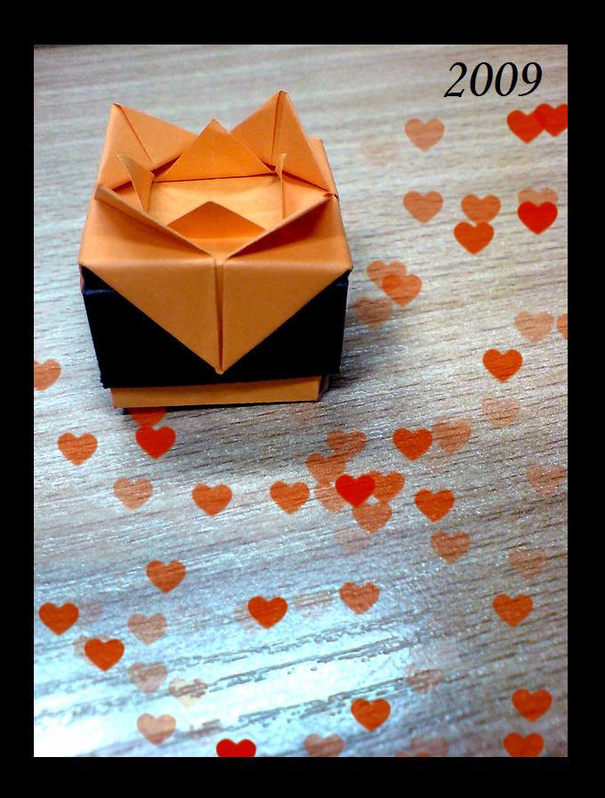 Origami Love Orange by yamixhikari