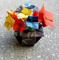 Vase with flowers by yamixhikari