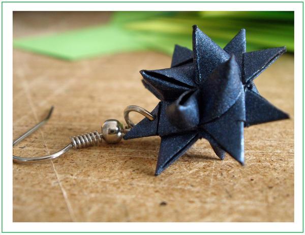 Origami earring by yamixhikari