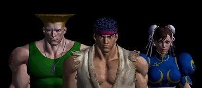 Ryu Guile Chun Li by GoldenWarrior7