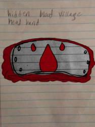 Hidden blood village head band naruto oc by Applejack14