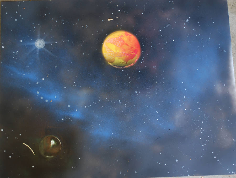 1st Space Painting by CaffeinatedSky