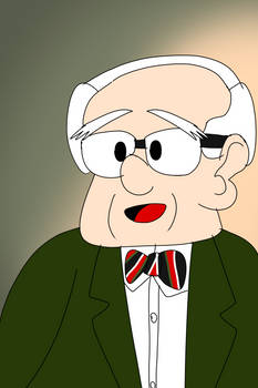 Murray Rothbard Freedomtoons Style potrait
