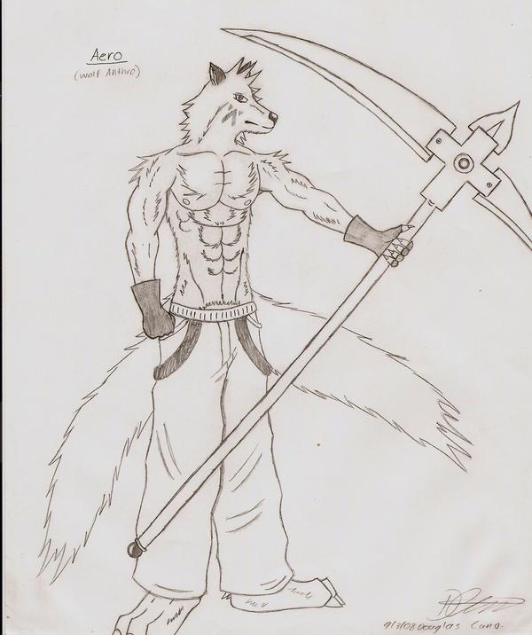 Aero - anthro wolf by haseodragon