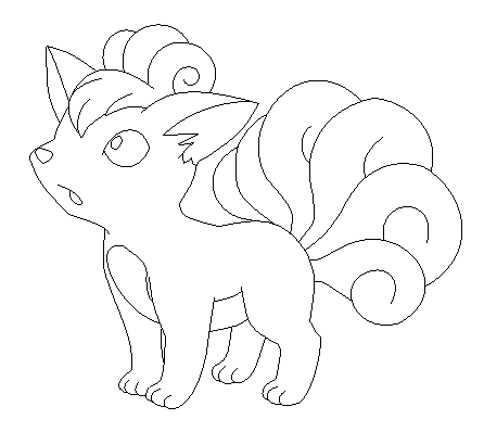 Vulpix lineart by poke lines on deviantart for Vulpix coloring pages