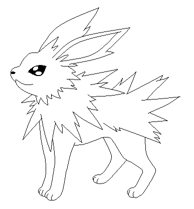 pokemon coloring pages jolteon - jolteon lineart by poke lines on deviantart