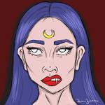 Girl - moon by PJ004