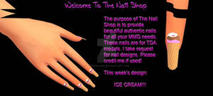 MMD Ice Cream Nails