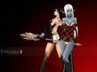 Lineage 2 : Seph and Sealiah by skorpio640