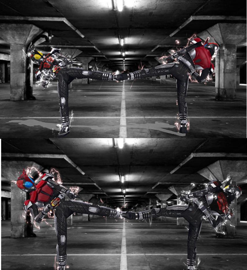 1 2 3 Rider Kick! by MIST-TO-GUN