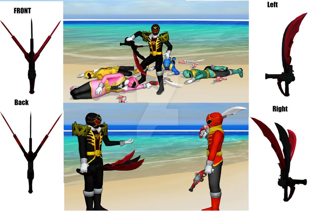 [MMD]Gokai Killer's weapon by MIST-TO-GUN