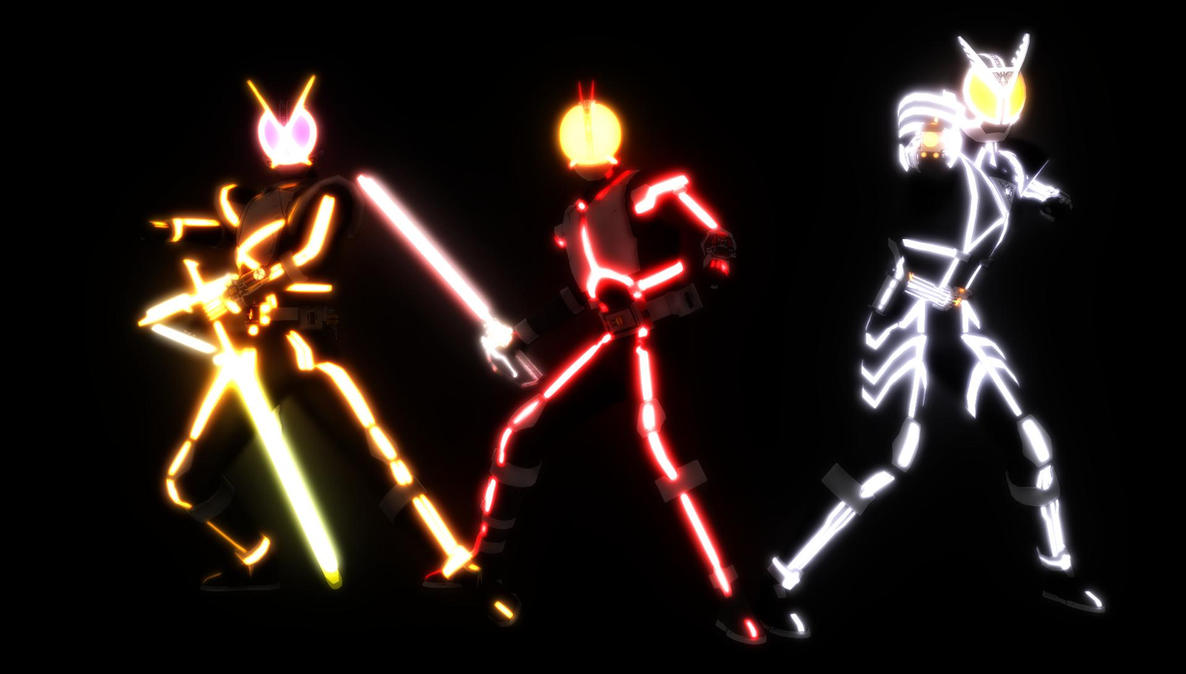 [MMD] The Glowing Riders by MIST-TO-GUN