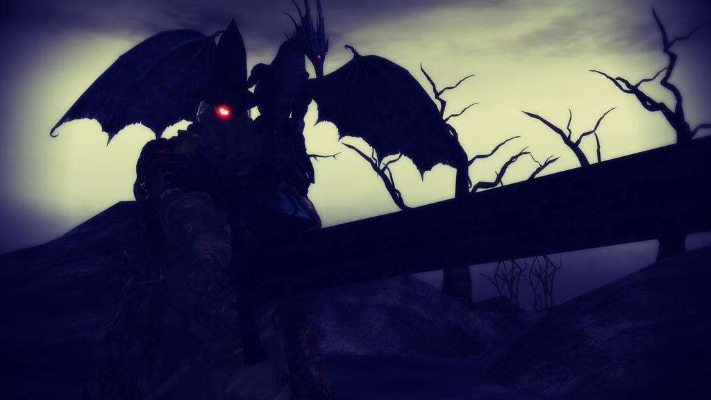 [MMD] Abyss Watcher and his little dragon by MIST-TO-GUN