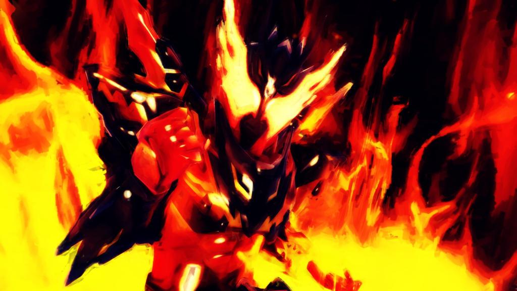 [MMD KAMEN RIDER] The Dragon of Magma by MIST-TO-GUN