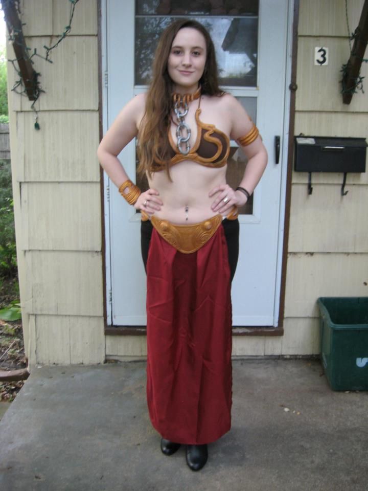 leia slave costume full view before hair by rodenkovia. Black Bedroom Furniture Sets. Home Design Ideas