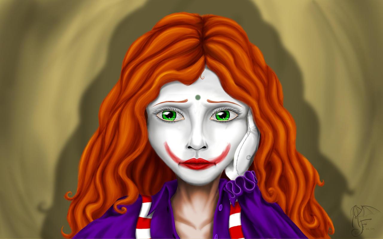 Sad Girl Clown Drawings Sad Clown by LadyMartina