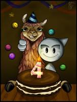 Happy Birthday Llama by MartinaDaBologna
