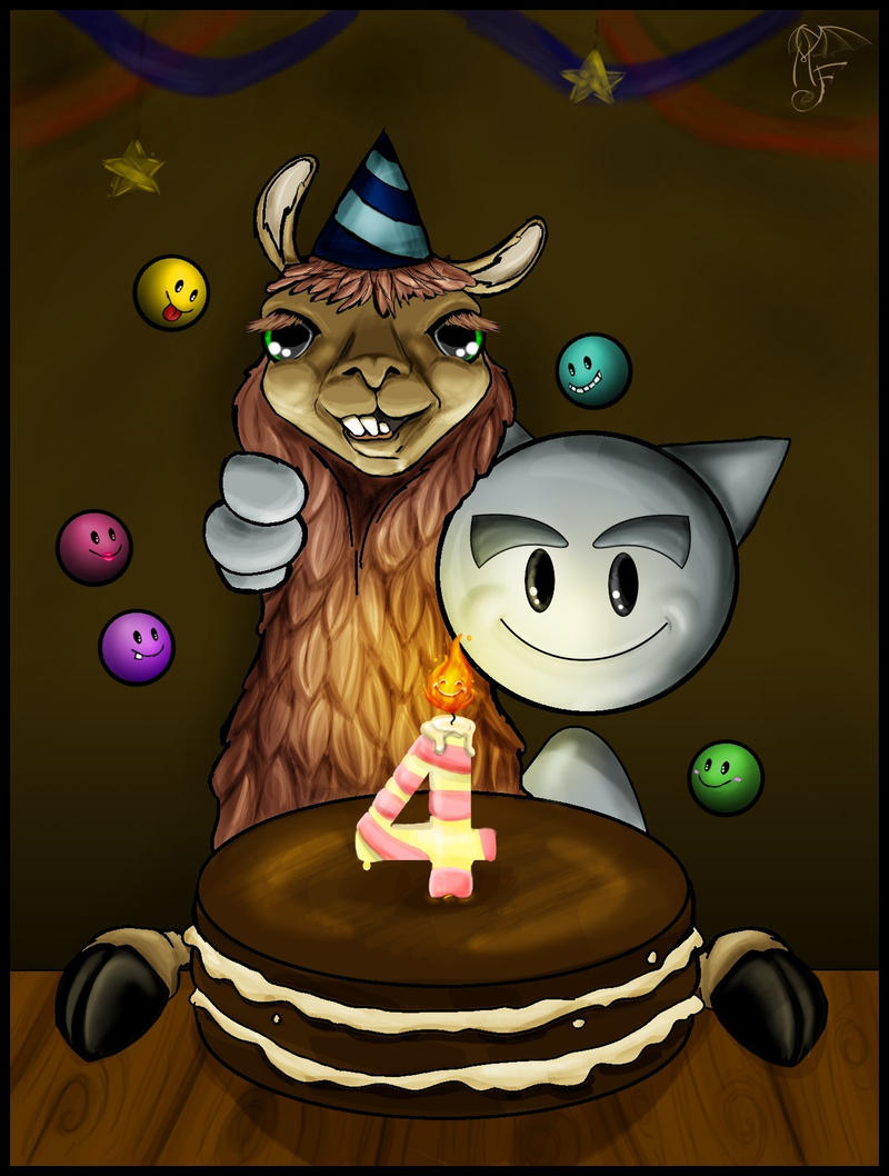 Happy Birthday Llama by LadyMartina