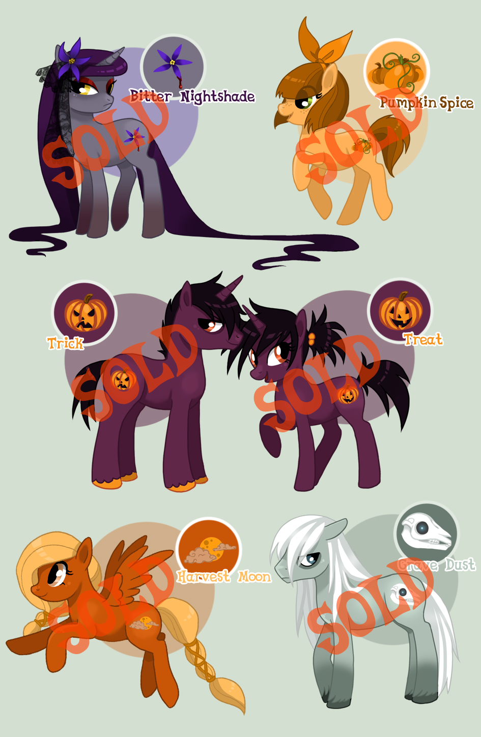 October Adoptables [Closed] by FateSong