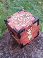 Antler Pentacle and Goddess Box by sesshys-jaded-samuri