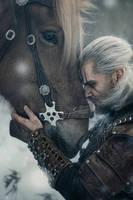 Geralt and Roach by DiteVlk