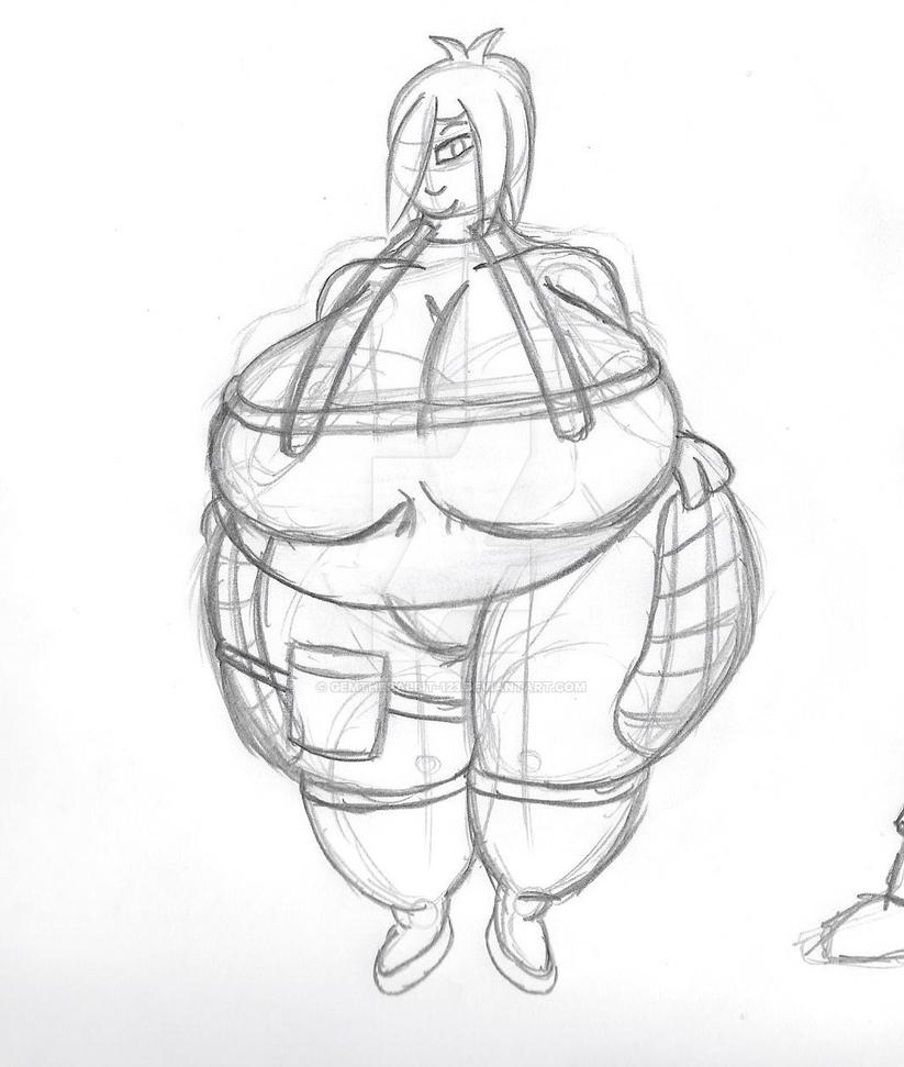 Maria sketch 2 - Electro magnetic molecule suit by gemtherabbit-123