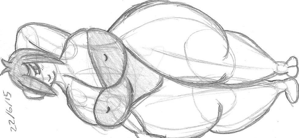 Maria sketch 4 - Swimsuit II by gemtherabbit-123