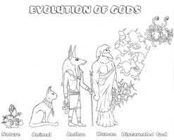 evolution of gods by Schatten-Drache