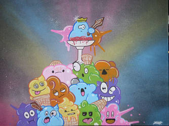 IceCream Kingdom by SUREGRAFFITI