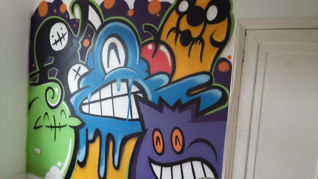 Number Zwei Character Wall by SUREGRAFFITI
