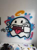 Number Zwei - Spooky Ghost by SUREGRAFFITI