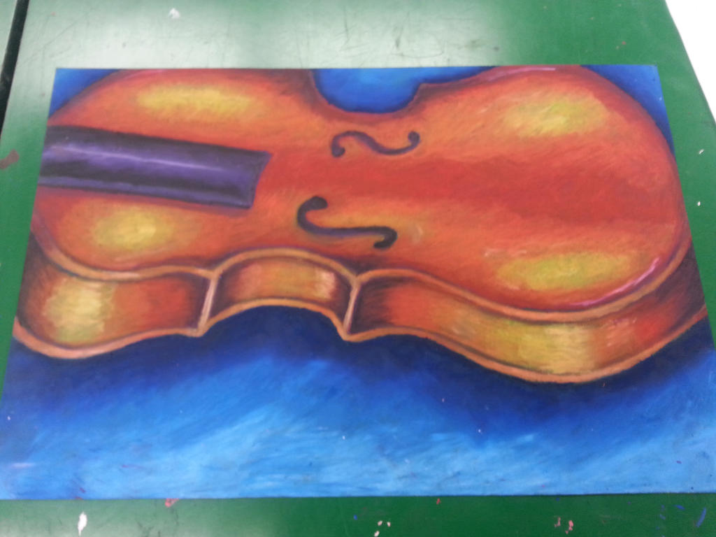 Oil Pastel Violin  by ShazuNyanRawwr