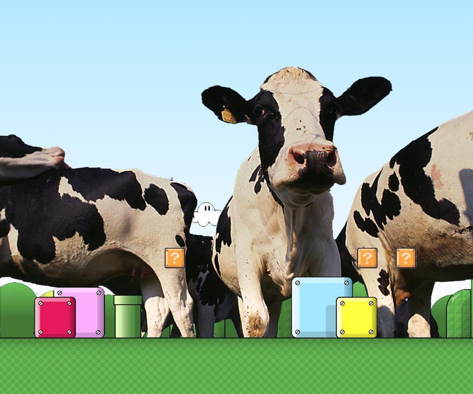 Cows in Mario Land by pluggo