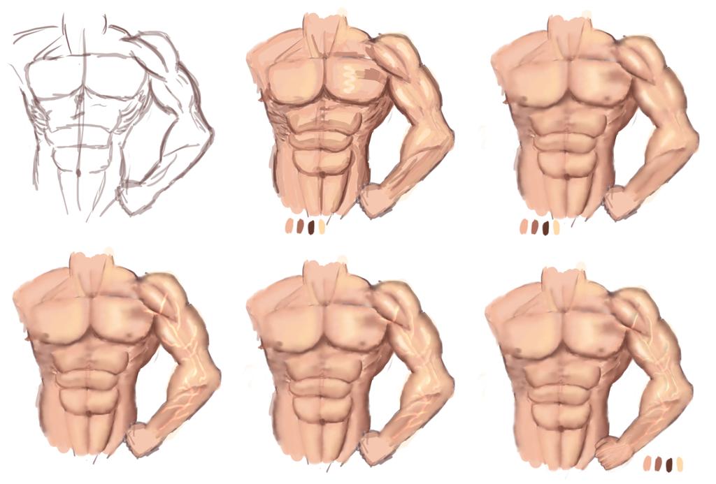 estudio del cuerpo masculino by Skarloc on DeviantArt