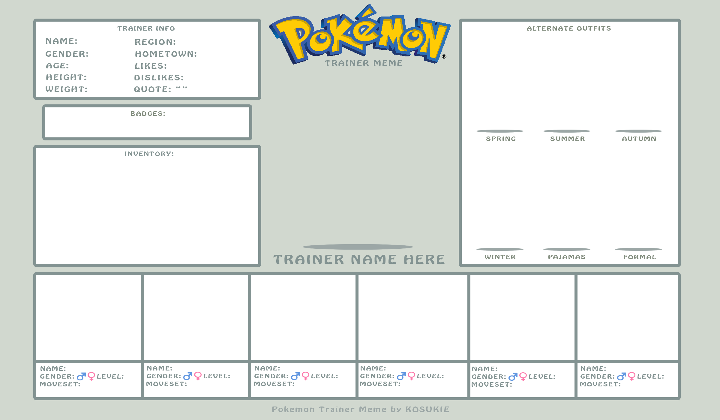 Pokemon Trainer Meme by Kosukie