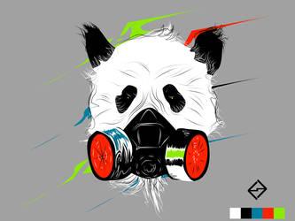 Rebel Panda by badography
