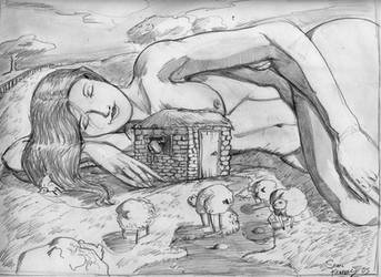 sleeping giantess by Newbeing