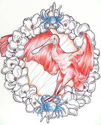 Roseate Spoonbill by starblinx