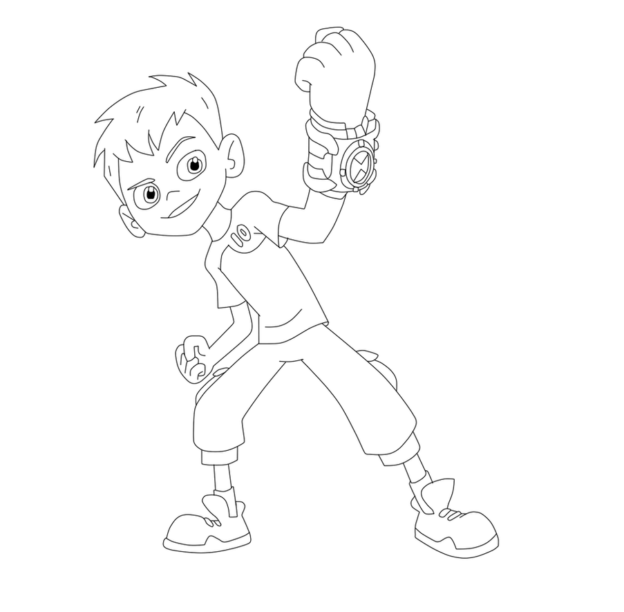 Ben 10 Coloring Page by Lisana3568 on DeviantArt