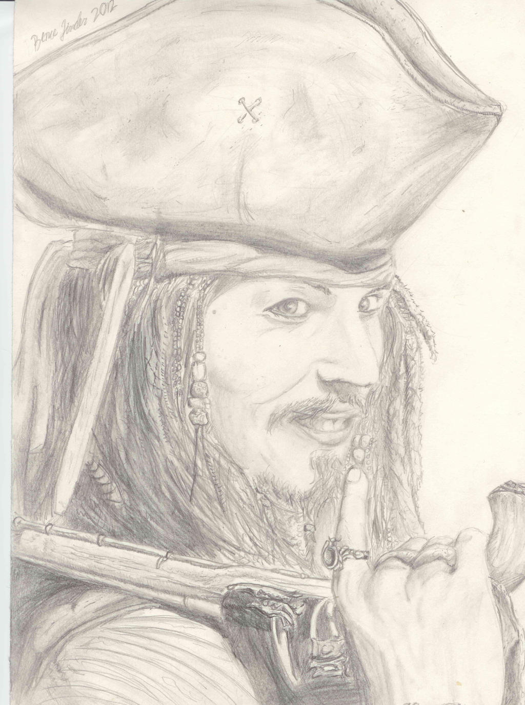 Jack Sparrow Pencil Drawing by Nikzt on DeviantArt