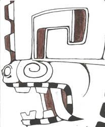 Aztec Serpent Sketch by CommanderTaco