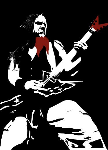 Dimebag darrell wallpaper dimebag darrell vector by